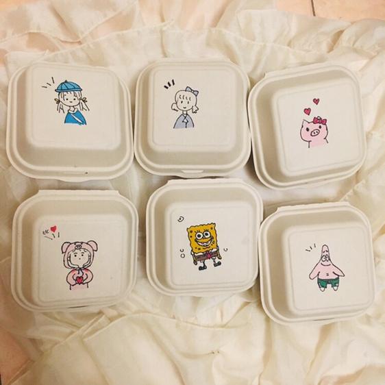 分享一些可爱的便当盒子简笔画 如糖